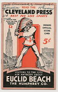 1931 Cleveland Indians-yankees Program Tribe Sweeps Doubleheader Nice