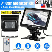 7 Wireless Backup Rear View Camera System Monitor Night Vision For Rv Bus Truck