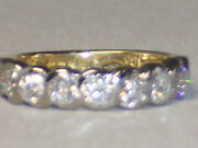 18k Yellow And White Gold .85 Carat Diamond Wedding Band Ring Appraised At 2,750