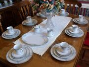 Lenox White Heather 5 Pc Setting For 8 + Extras 43 Total Pcsmint