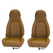 Fits 1990-1996 Mazda Miata Pair Of Front Seat Covers For Standard Seats Tan