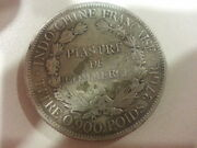 1900a French Indo-china Piastre De Commerce Coin Silver Francaise