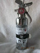 Chrome 1-1/4lb. Fire Extinguisher New In Box Amerex-free Shipping