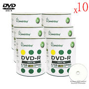 6000-pack Smartbuy White Top Surface Blank Dvd-r Dvdr 16x 4.7gb Recordable Disc