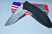 Kershaw 1570st Avalanche Serrated Edge With Cpm 440v Steel Made In Usa Rare