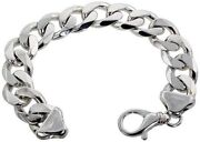 .925, Sterling Silver Massive Heavy Curb Link Chain Necklace 17mm 24 To 30