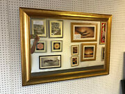 Buy Direct - Large Modern Gold Wall And Overmantle Mirror