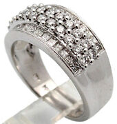 New Diamond Cocktail Ring 18k Solid White Gold Fg/vs 1.69tcw 52 Stones Size 7