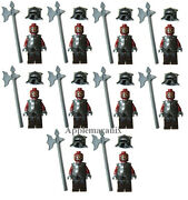 10 New Lego 9471 Lord Of The Rings Uruk-hai Army Minifig Figure Lot Armor/axe/hm