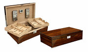 Prestige Import Group Salvador Rosewood Humidor W/ Twin Trays