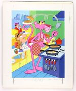 1976 The Pink Panther 20 X 25 Original Tray Puzzle Artwork