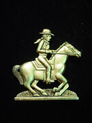Jj Jonette Jewelry Antique Gold Pewter And039cow Girl Riding Horseand039 Pin