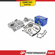 Timing Chain Kit Cover Oil Pump Water Pump For 95-04 Toyota Tacoma 2rzfe