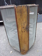 C1873 Commericial Style Grain Painted Pie Safe Cabinet Havana Ny Pine And Oak
