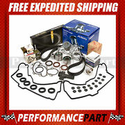 Timing Belt Kit Thermostat Valve Cover Water Pump W/o Pipe 96-04 Toyota 5vzfe