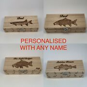 Fishing Tackle Box Handcrafted Personalised Free Bass,perch,pike And Trout
