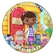 Doc Mcstuffins Personalised Cake Topper 7.5 Edible Wafer Paper Birthdays