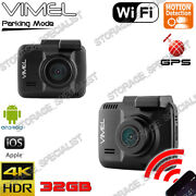 Dash Camera With Gps Hdr 2880x2180p Wifi Wireless Backup Sony Security Guard
