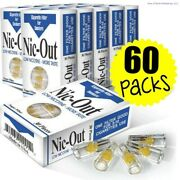 60 Nic-out Packs - Cigarette Filters Tar Nicotine 1800 Filters Wholesale