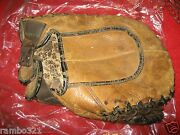 Antique Vintage Brown Milton B45 Baseball Mitt Very Old And Good Condition