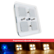 Rv Light 7 Led Crystal Ceiling Light Trailer Boat Lamp Switched Warm W And Blue