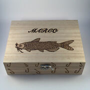 Fishing Tackle Box Personalised Gift With 6 Removable Compartments Christmas