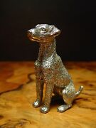 Silver Pewter Airedale Terrier Dog Statue Paperweight Other Uses