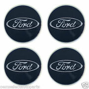Oem New Ford Taurus Focus Blue Oval Center Cap - Wheel Hub Cover Set Of All 4
