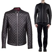 ★ In Pelle 100 O Di Pelle Pu ★ Giubbotto Giacca Uomo Men Leather Jacket Md.tra1