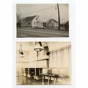 Diner/restaurant Interior W/ Tables, Booths And House/building Set Of 2 Photos