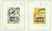 St. Lucia 1986 Scouts/girl Guides Sss Proofs In Printerand039s Presentation Folders