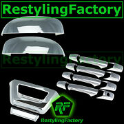 07-14 Chevy Avalanche Chrome Top Mirror+4 Door Handle+tailgate No Camera Cover