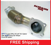 Exhaust Front Downpipe Turbo Opel Gt 2.0t Andlsquo00- With Hjs Tuning Cat Dp17