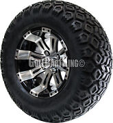 12 Rhox Rx180 Vegas Wheel With Tire Combo And Ezgo Golf Cart Lift Kit