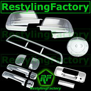 07-13 Tundra Double Cab Mirror+chrome 4 Door Handle+tailgate+3rd Brake+gas Cover