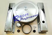 Chrome Small Block Chevy Engine Dress Up Kit+air Cleaner Valve Cover Sbc 350
