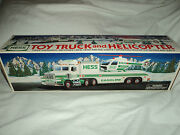 Hess Toy Truck And Helicopter 1995 Mint Condition Nib