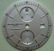 Genuine Baume And Mercier Automatic Chrono Watch Dial Silver Color New Dia 36 Mm