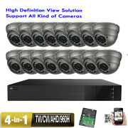 16ch All-in-one 1080p Dvr 1800tvl 3-12mm Varifocal Zoom 36ir Security Camera 0po