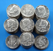 Kennedy Half Dollars 37 Face Value - 40 Silver Us Coins - Various Years