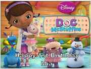 Doc Mcstuffins Personalised A4 Cake Topper Edible Wafer Paper 7.5 By 10