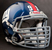 New York Giants Nfl Riddell Speed Football Helmet With Big Grill S2bdc-ht-lw
