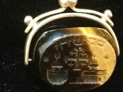 18 Karat Gold Wax Seal Jerusalem Palestine 18th/19th C Etched Hebrew Holy Places