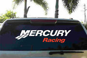 Mercury Racing Truck Trailer Decal Red And White Made In The Usa Stickers Decals