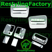 08-14 Ford Super Duty Chrome Top Half Mirror+2 Door Handle No Psg+tailgate Cover
