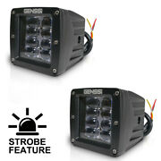 2 Cube 20w Led Flood Fog Driving Light Off Road Bar For Jeep Dually Truck