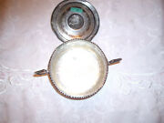 Antique Persian Silver Sugar Bowl And Lid