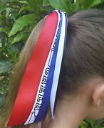Team/school Colors Ribbon Streamer Ponytail Holder Choose Your Sport And Colors