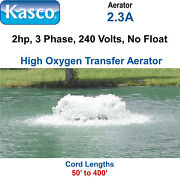 Kasco U2.3a050 Aerator 2 Hp 3 Phase 240 Volts 50and039 Cord No Ctrl Panel No Float