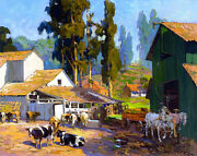The Dairy  By Franz Bischoff  Giclee Canvas Print Repro